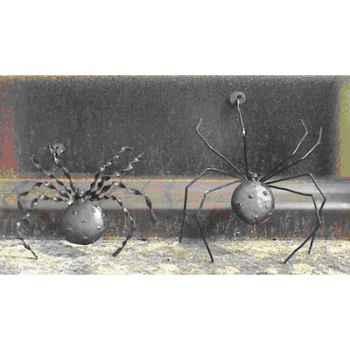 Petite Araignée pour mur en Métal Recyclé Terre Sauvage  -ws02