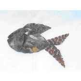 poisson pour mur en metarecycle terre sauvage wf01