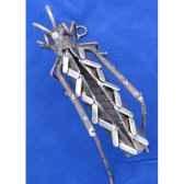 sauterelle lamelle pour mur en metarecycle terre sauvage wgh01