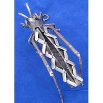 Sauterelle Lamelle pour mur en Métal Recyclé Terre Sauvage  -wgh01