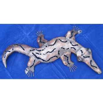Crocodile pour mur en Métal Recyclé Terre Sauvage  -wc01
