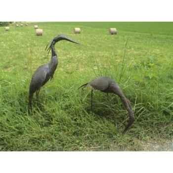 Petit Heron Pourpre en Métal Recyclé Terre Sauvage  -ma51