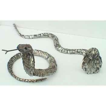 Cobra en Métal Recyclé Terre Sauvage  -cobra