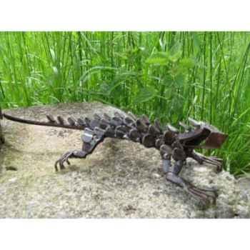 Iguane en Métal Recyclé Terre Sauvage  -ma59
