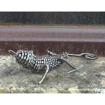 Gecko Copeaux de en Métal en Métal Recyclé Terre Sauvage  -cmg01