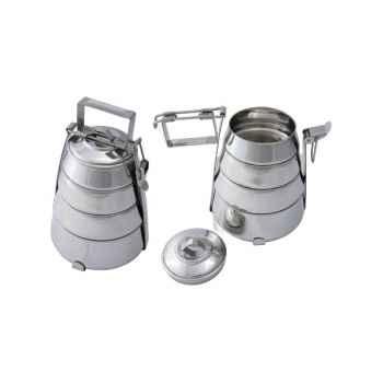 Boite repas Métal conique 4 compartiments Hindigo -ST8