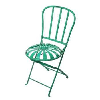 Chaise pliante Métal rouille Hindigo -JC73ACI