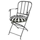 chaise pliante metableue hindigo jd23blu