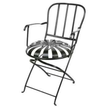 Chaise pliante Métal bleue Hindigo -JD23BLU