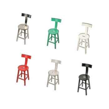 Chaise bar Métal noire Hindigo -JD30BLA