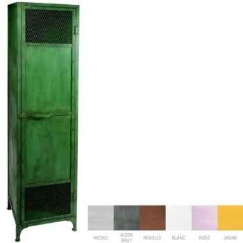 Vestiaire 1 porte vert ancien Hindigo -JD1OLGREE