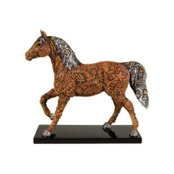 Figurine Cheval Painted Ponies Carved in History -PO12296