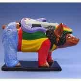 figurine cochon party piggies reggea pap18