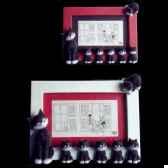 cadre photo dubout rouge dub40