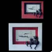cadre photo dubout rouge dub42