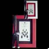 cadre photo dubout rouge dub38