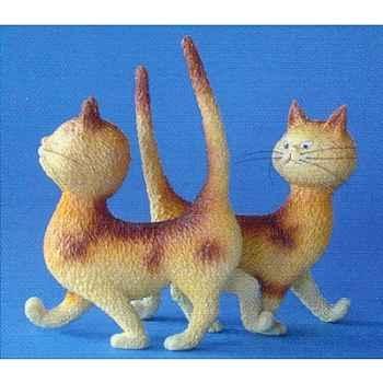 Figurine chat Dubout Zut la même robe -DUB32