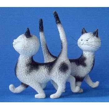 Figurine chat Dubout Zut la même robe -DUB31