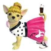 figurine chien chihuahua sock hop chi13357
