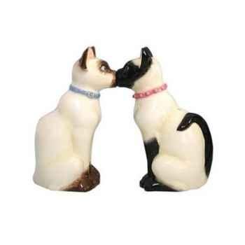 Figurine chats siamois Sel et Poivre -MW93467