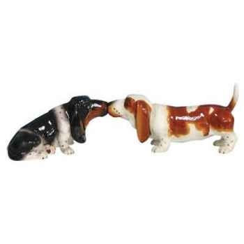 Figurine basset hound Sel et Poivre -MW93426