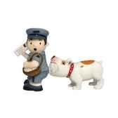 figurine facteur et chien seet poivre mw93453