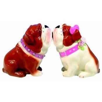 Figurine bulldogs Sel et Poivre -MW93414