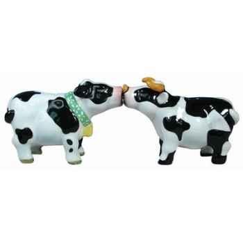 Figurine vache et taureau Sel et Poivre -MW93403