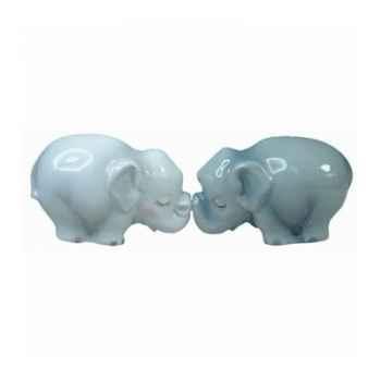 Figurine éléphants Sel et Poivre -MW93404
