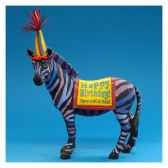 figurine zebre happy birthday hp16929