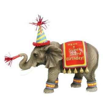 Figurine Eléphant Happy Birthday -HP16926
