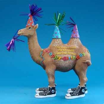 Figurine Chameau Happy Birthday -HP16925
