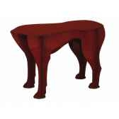 tabouret chien sultan ibride rouge brillant mobc 007
