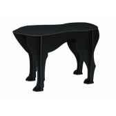 tabouret chien sultan ibride noir mat brosse mobc 008