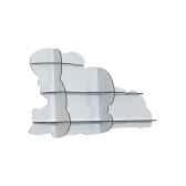 etagere murale nuage ibride nimbus blanc brillant mobc 015