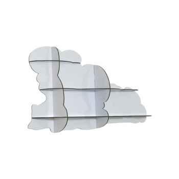 Etagère murale nuage Ibride Nimbus blanc brillant -mobc-015