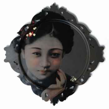 Plateau Tableau rond Ibride Portraits de famille Liu -galp-002