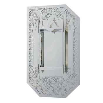 Miroir Murano Ibride Blanc argenté -mura-001