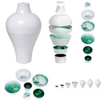 Service de table 6 pièces Ming Ibride Blanc -ming-001