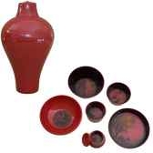 service de table 6 pieces ming ibride rouge ming 002