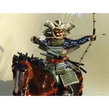 Figurine Samourai peinte Gilles Carda Cavalier Arc Yabusame 2 -37C