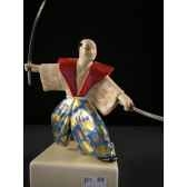 figurine samourai peinte gilles carda musashi 39c
