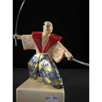 Figurine Samourai peinte Gilles Carda Musashi -39C