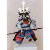 figurine samourai peinte gilles carda yari soleirouge 48c