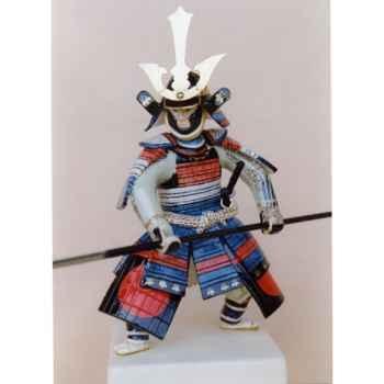 Figurine Samourai peinte Gilles Carda Yari Soleil rouge -48C