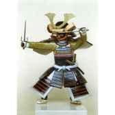 figurine samourai peinte gilles carda sai gris 51c