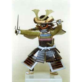 Figurine Samourai peinte Gilles Carda Sai gris -51C