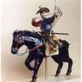 figurine samourai peinte gilles carda cavalier arc yabusame moderne 53c