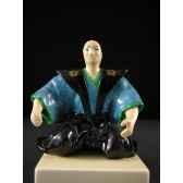 figurine samourai peinte gilles carda samourai the gilet 55c