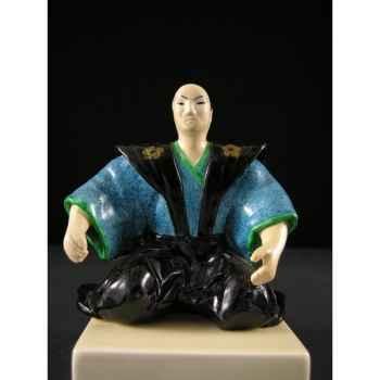 Figurine Samourai peinte Gilles Carda Samouraï Thé Gilet -55C